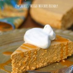 Low Calorie Slow Cooker Pumpkin Cheesecake