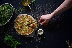 Italian Vegetable Pie + Green salad + Lemon vinaigrette by Yellow Mood Kitchen. All gluten-free and dairy-free!
