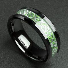 Solid 10ct Gold Irish Celtic Eternal Knot 3.4mm Wedding Band Ring MadeIn Ireland