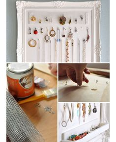 DIY Jewelry Organization Ideas | Click for Tutorial | DIY Storage Ideas for Small Spaces