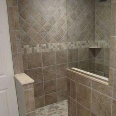 Walk In Doorless Showers For Small Bathrooms Design Ideas Doorless ...