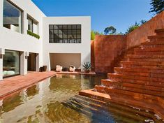 Love the color of the stone.  Mexican architect Luis Barragan, the Campbell Divertimento House