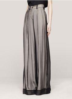 Ann Demeulemeester - Layered wide-leg silk pants