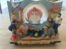 Disney Little Mermaid Rare Storybook Snowglobe
