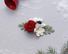 Felt Flower Accessories and gifts for littles. Holiday Fashion, Holiday Style, Holiday Photos, Felt Flowers, Vines, Little Girls, Stud Earrings, Crown, Christmas