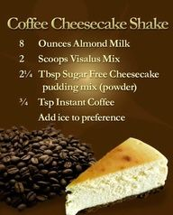 Coffee Cheesecake Body By Vi Shake Recipe - substitute frozen cherries or strawberries for coffee
