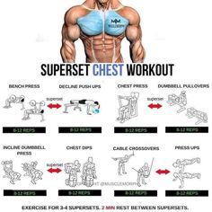 Chest Workout For Men, Chest Workouts, Gym Workouts, Chest Exercises, Biceps Workout, Bodybuilding Plan, Bodybuilding Workouts, Step Workout, Workout Guide