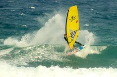 A Cutback in popular windsurfing spot in Canary Islands, Tenerife, El Medano, El Cabezo. Pic by Gundars Dundurs.