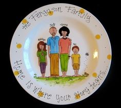 ADORABLY Personalized Family Platter  Hand Painted by cutiepatooties1, $37.50