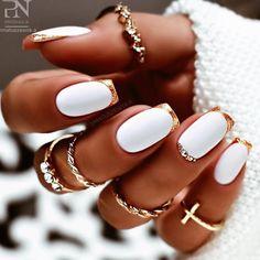 Square Nail Designs, Cute Nail Art Designs, White Nail Designs, Short Nail Designs, Acrylic Nail Designs, White Summer Nails, White Nails, White Short Nails, Short Square Nails