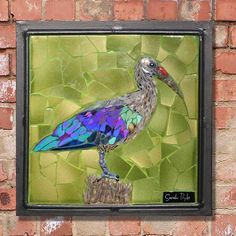 This little commission of a hadeda ibis went off to its new home in Salt Rock today. I'm always amazed by the subtle and variable iridescent colouration in this rather loud bird! Mosaic Birds, Go Off, Salt Rock, Iridescent, New Homes, Africa, Photo And Video, Amazing, Frame