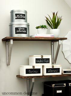 Craft Room Organization Inspiration via www.uncommondesignsonline.com #CraftOrganization #CraftRoom