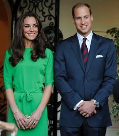 Day Nine: The Duke and Duchess [in a belted emerald green dress and leopard-print clutch, both by Diane von Furstenberg] attended a private reception at the British Consul-General's residence in Los Angeles on July 8, 2011.