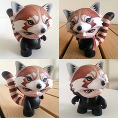 Munnyworld Customs: Red Panda by @thepumpkintide on Behance