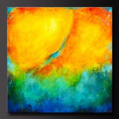 What a vibrant painting!! Title: Color Splash... by CharlensAbstracts on Etsy