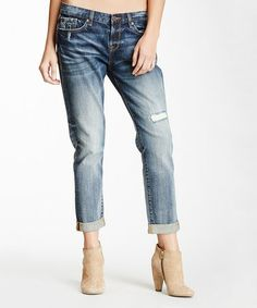 Look at this #zulilyfind! Shibuya Blue Boyfriend Jeans #zulilyfinds