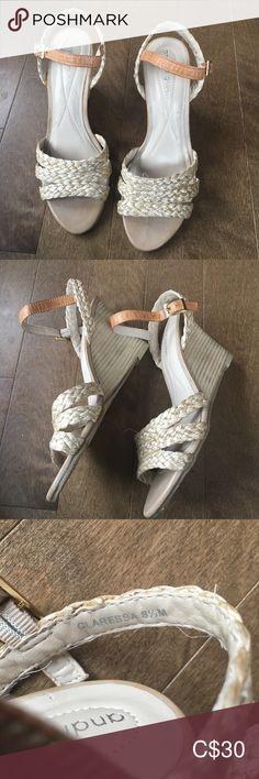 Andrew Geller Jute lether wedge sandals Sz EUC, Andrew Geller Jute leather wedge sandals Sz Heels approx 3 in 30 Shoes Sandals Leather Wedge Sandals, Leather Wedges, Women's Shoes Sandals, Heels, Fast Fashion, Plus Fashion, Fashion Tips, Fashion Trends, Jute