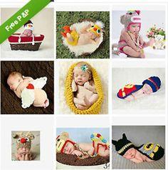 14New born Baby Crochet Knit Costume Clothes Girl Boy Photo Photography Prop Hat #Unbranded #BaseballCap
