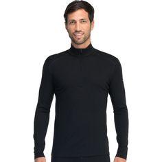 ca0be1ef2e6 Icebreaker Men's Oasis LS Half Zip - Medium - Black Glove Liners, Tactical  Clothing,