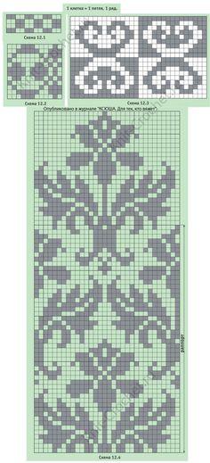 New knitting needles sizes mittens pattern 47 Ideas Motif Fair Isle, Fair Isle Chart, Fair Isle Pattern, Knitting Charts, Knitting Stitches, Knitting Patterns, Crochet Patterns, Knitting Needles, Loom Patterns