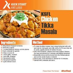 """""""Fancy a CURRY? This is possible on try this lovely Chicken Tikka Masala recipe. Clean Eating, Healthy Eating, Chicken Tikka Masala, Masala Recipe, Workout Motivation, Curry, Kicks, Fat, Sugar"""