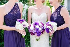 Purple bridesmaids a
