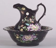 Masons Ironstone Black Chinese Wash Basin and Pitcher | Sale Number 2332, Lot Number 456 | Skinner Auctioneers