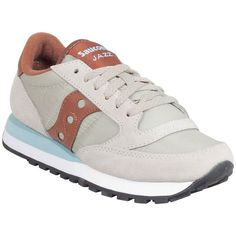 Saucony Women's Jazz Original Sneaker (£36) ❤ liked on Polyvore featuring shoes, sneakers, laced shoes, synthetic shoes, saucony trainers, retro shoes and retro sneakers