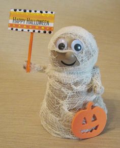 Clay Pot Mummy by BeyondACard on Etsy, $10.00