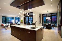 Resultado de imagem para cozinha com ilha e sala integrada