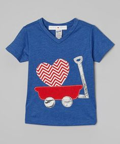This Cobalt Blue Love V-Neck Tee - Infant, Toddler & Boys by mini scraps is perfect! #zulilyfinds