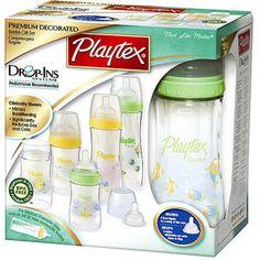 Playtex - Premium Decorated Nurser Bottle Gift Set, BPA Free