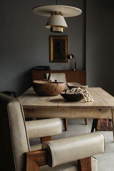 Dining Room Furniture, Rustic Furniture, Home Furniture, Furniture Ideas, Modern Furniture, Outdoor Furniture, Wabi Sabi, Cheap Adirondack Chairs, Dark Interiors