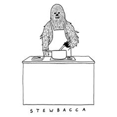 Humorous Illustrations Of Chewbacca As Comical Visual Puns