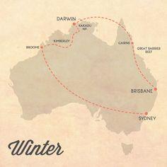 Itinerary for Australia Winter