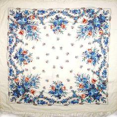 Gzel Pavlovo-Posad Shawl Woman Scarf - Russian Woolen Scarves