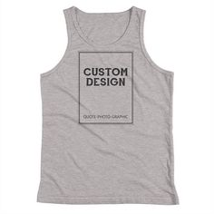 Personalized Youth Tank Top #CustomYouth #YouthTankTop #YouthCustomTShirt #YouthCustomized #PersonalizedYouth #YouthCustom #YouthPersonalized #YouthCustomShirt #CustomTankTop #TankTop