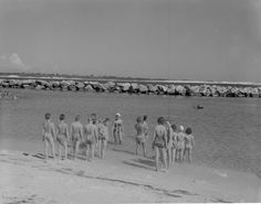 Florida Memory - Children and day campers taking swimming lessons at St. Andrews State Park - Panama City, Florida