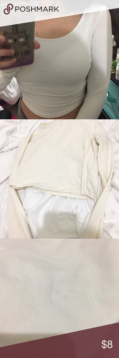 Forever 21 crop top 2 light stains as pictured above, make me an offer Forever 21 Tops Tees - Long Sleeve