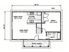 """This traditional """"Katrina Cottage"""" design has 3 bedrooms in 1,200 sq ft.   www.facebook.com/SmallHouseBliss"""