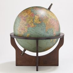 One of my favorite discoveries at WorldMarket.com: Green Globe with Brown Wood Stand