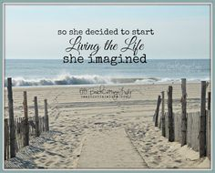 Seaside Path So She Decided to Start Living the Life She Imagined René Marie Photography / Beach Cottage Life Inspirational Coastal Living