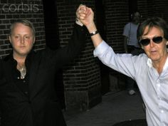 James McCartney and dad Paul McCartney at 'Late Show with David Letterman' in NYC James Mccartney, Rich Image, Music Licensing, Photo Library, Video Footage, Royalty Free Photos, Beatles, Dads, Nyc
