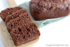 Tuck away a loaf or two of this double chocolate zucchini bread into the freezer for a sweet breakfast or a last minute dessert. It's easy to make, moist, dairy free, and the recipe has options to make it vegan too.