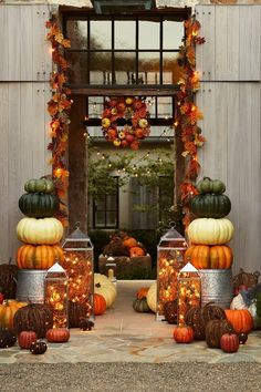 Exterior Doors | very colorful and festive autumn entryway | Bayer Built Woodworks