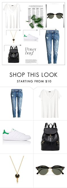 """""""Untitled #2"""" by iris-374 on Polyvore featuring H&M, adidas, Marc by Marc Jacobs and Ray-Ban"""