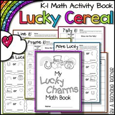 This activity is perfect for St. Patrick's Day activities with your favorite Lucky Cereal! After students graph and record their charms, students . Kindergarten Classroom, Classroom Activities, Teaching Math, Book Activities, Activity Ideas, Classroom Ideas, Substitute Folder, Math Minutes, Math Strategies