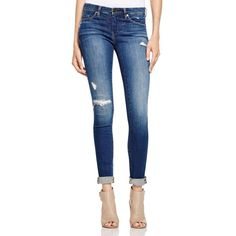BLANKNYC Distressed Skinny Jeans ($88) ❤ liked on Polyvore featuring jeans, hoetel, faded glory skinny jeans, destroyed jeans, mid-rise jeans, mens jeans and ripped skinny jeans
