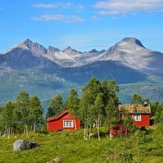 """""""All"""" Norwegians have their own hut. This hut is located in the Vengedalen Valley in Isfjorden, Møre og Romsdal, Norway."""