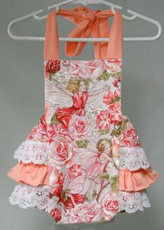 Baby Girl Sunsuit Romper Bubble with Ruffles Ruffle Sunsuit